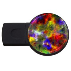Deep Watercolors 2gb Usb Flash Drive (round)