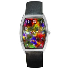 Deep Watercolors Tonneau Leather Watch