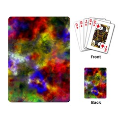 Deep Watercolors Playing Cards Single Design
