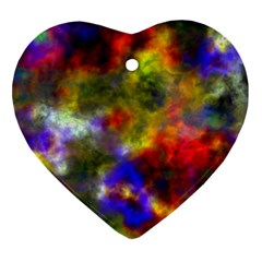 Deep Watercolors Heart Ornament (Two Sides)