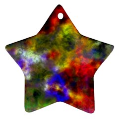 Deep Watercolors Star Ornament (Two Sides)