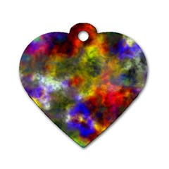 Deep Watercolors Dog Tag Heart (Two Sided)