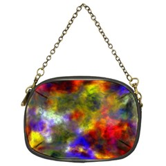Deep Watercolors Chain Purse (Two Sided)