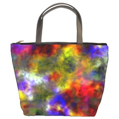 Deep Watercolors Bucket Handbag