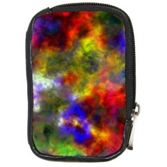 Deep Watercolors Compact Camera Leather Case