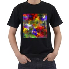 Deep Watercolors Men s T-shirt (Black)