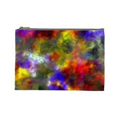 Deep Watercolors Cosmetic Bag (large)