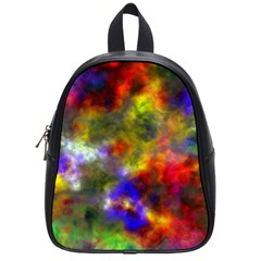 Deep Watercolors School Bag (small)