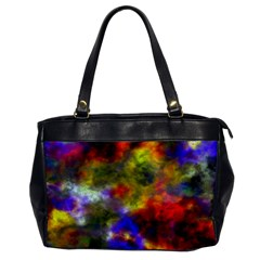 Deep Watercolors Oversize Office Handbag (one Side)