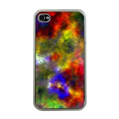 Deep Watercolors Apple iPhone 4 Case (Clear)