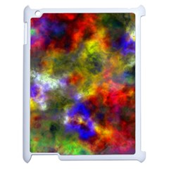 Deep Watercolors Apple iPad 2 Case (White)