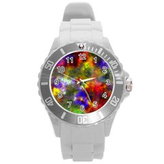 Deep Watercolors Plastic Sport Watch (Large)