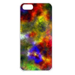 Deep Watercolors Apple iPhone 5 Seamless Case (White)
