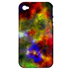 Deep Watercolors Apple iPhone 4/4S Hardshell Case (PC+Silicone)