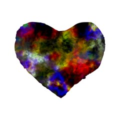 Deep Watercolors 16  Premium Heart Shape Cushion