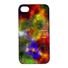 Deep Watercolors Apple iPhone 4/4S Hardshell Case with Stand