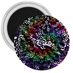 Urock Musicians Twisted Rainbow Notes  3  Button Magnet