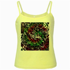 Urock Musicians Twisted Rainbow Notes  Yellow Spaghetti Tank