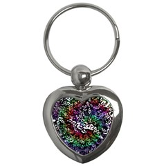 Urock Musicians Twisted Rainbow Notes  Key Chain (Heart)