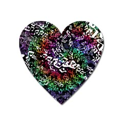 Urock Musicians Twisted Rainbow Notes  Magnet (Heart)