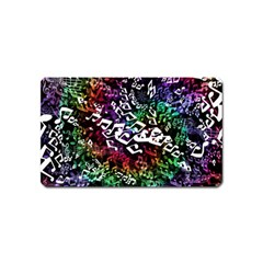 Urock Musicians Twisted Rainbow Notes  Magnet (Name Card)