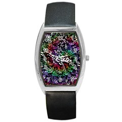 Urock Musicians Twisted Rainbow Notes  Tonneau Leather Watch