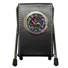 Urock Musicians Twisted Rainbow Notes  Stationery Holder Clock