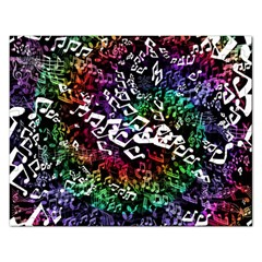 Urock Musicians Twisted Rainbow Notes  Jigsaw Puzzle (Rectangle)
