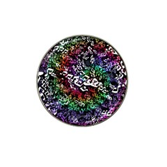 Urock Musicians Twisted Rainbow Notes  Golf Ball Marker 4 Pack (for Hat Clip)