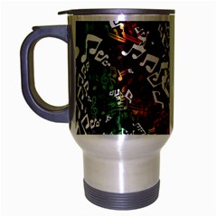 Urock Musicians Twisted Rainbow Notes  Travel Mug (Silver Gray)