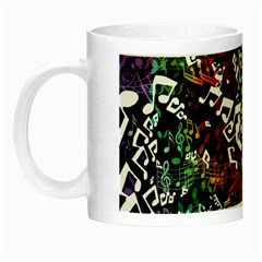 Urock Musicians Twisted Rainbow Notes  Glow In The Dark Mug