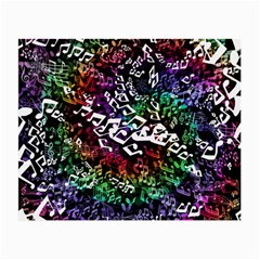 Urock Musicians Twisted Rainbow Notes  Glasses Cloth (Small, Two Sided)