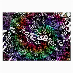 Urock Musicians Twisted Rainbow Notes  Glasses Cloth (Large, Two Sided)