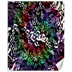 Urock Musicians Twisted Rainbow Notes  Canvas 11  x 14  (Unframed)