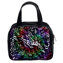 Urock Musicians Twisted Rainbow Notes  Classic Handbag (Two Sides)