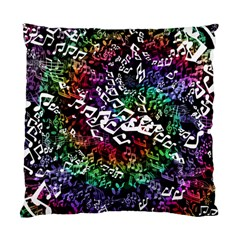 Urock Musicians Twisted Rainbow Notes  Cushion Case (Single Sided)