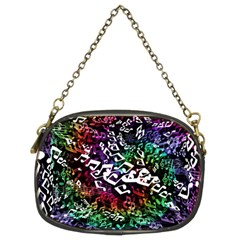 Urock Musicians Twisted Rainbow Notes  Chain Purse (Two Sided)