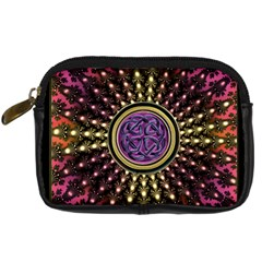Hot Radiant Fractal Celtic Knot Digital Camera Leather Case
