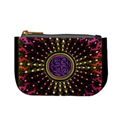 Hot Radiant Fractal Celtic Knot Mini Coin Purse