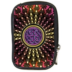 Hot Radiant Fractal Celtic Knot Compact Camera Leather Case