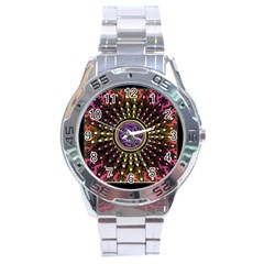 Hot Radiant Fractal Celtic Knot Stainless Steel Analogue Men's Watch