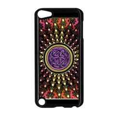 Urock Musicians Twisted Rainbow Notes  Apple iPod Touch 5 Case (Black)