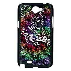 Urock Musicians Twisted Rainbow Notes  Samsung Galaxy Note 2 Case (Black)