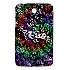 Urock Musicians Twisted Rainbow Notes  Samsung Galaxy Tab 3 (7 ) P3200 Hardshell Case