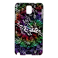 Urock Musicians Twisted Rainbow Notes  Samsung Galaxy Note 3 N9005 Hardshell Case