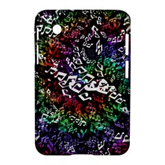 Urock Musicians Twisted Rainbow Notes  Samsung Galaxy Tab 2 (7 ) P3100 Hardshell Case