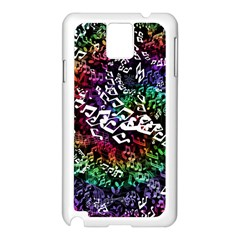 Urock Musicians Twisted Rainbow Notes  Samsung Galaxy Note 3 Case (White)