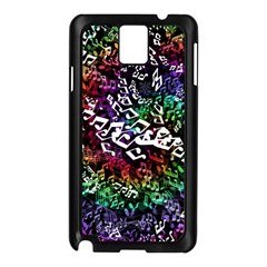 Urock Musicians Twisted Rainbow Notes  Samsung Galaxy Note 3 Case (Black)