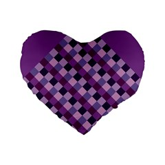 Purple 16  Premium Heart Shape Cushion