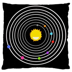 Solar System Large Cushion Case (Single Sided)